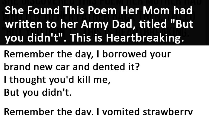 but you didn t poem