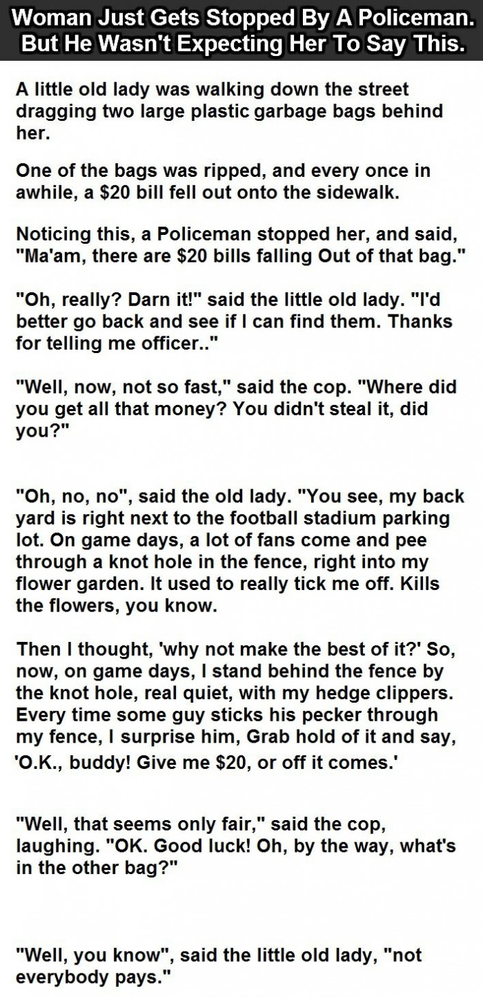 Policeman Stops A Woman In The Street. But He Didn't Expect This.