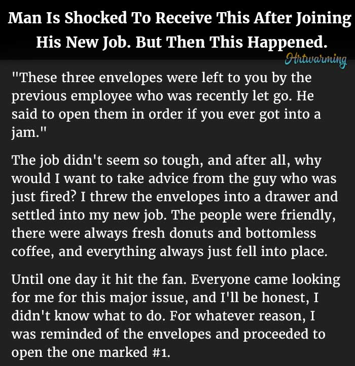 Man Is Shocked To Receive This After Joining His New Job. But Then ...