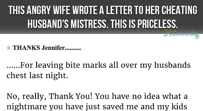 Husband Writes Letter To Wife
