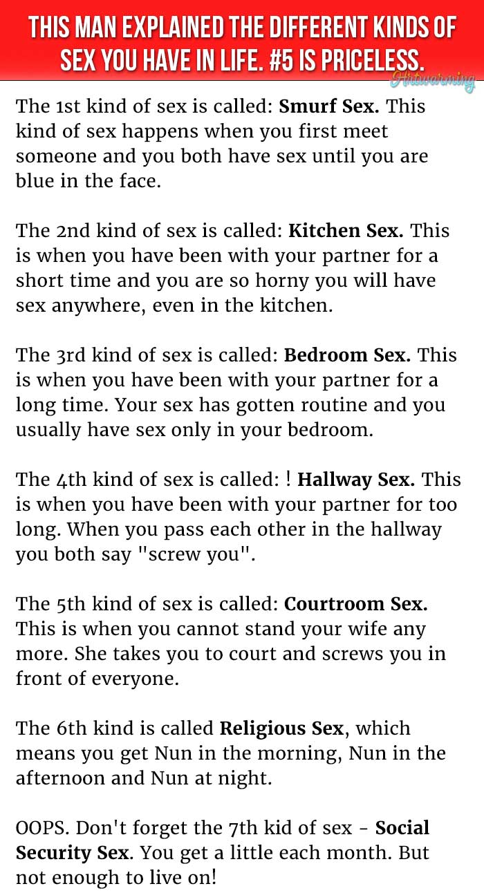 5 Different Kinds of Sex Defined