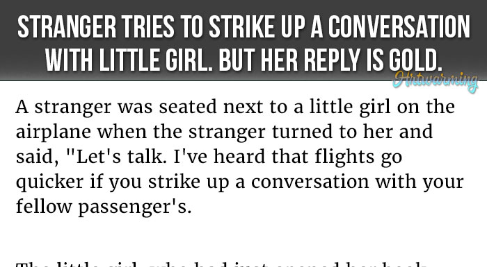 Strike Up A Conversation With A Girl