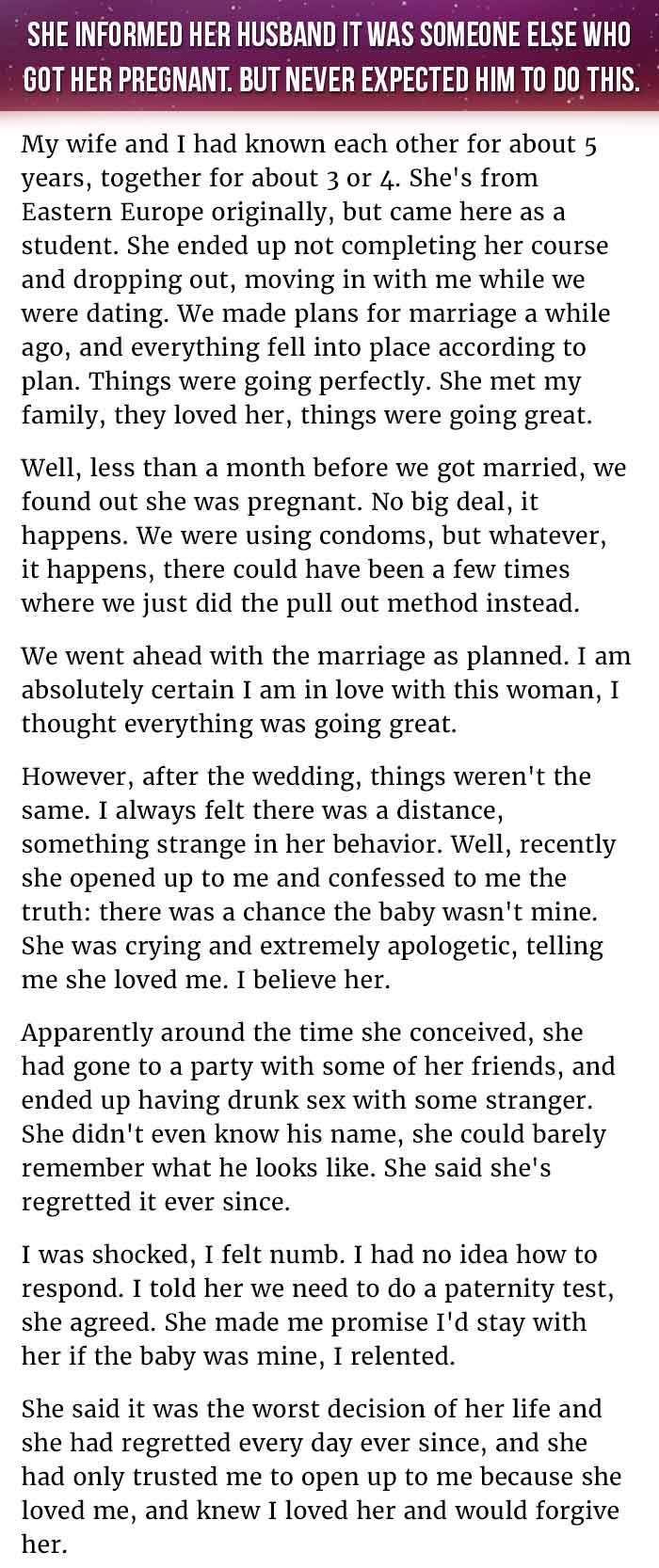 Wife Informs Husband Its Someone Else Who Got Her