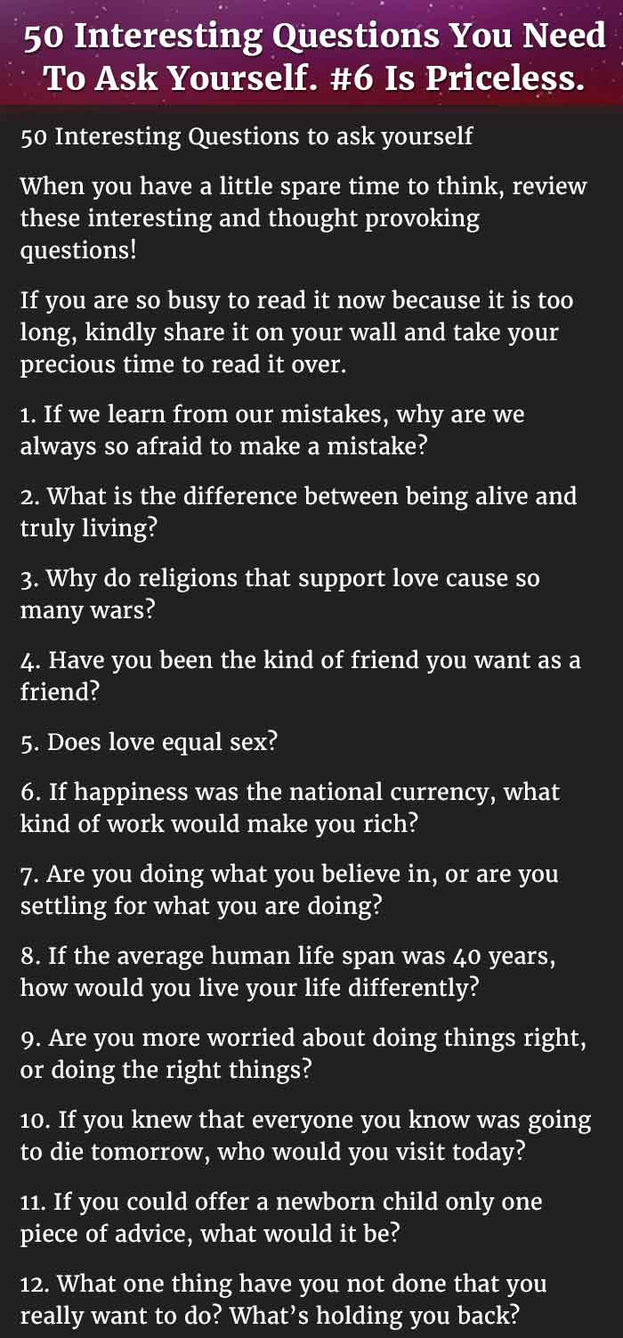 Weird Questions To Ask Your Friends 8