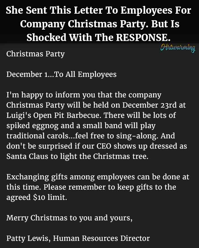 christmas party email