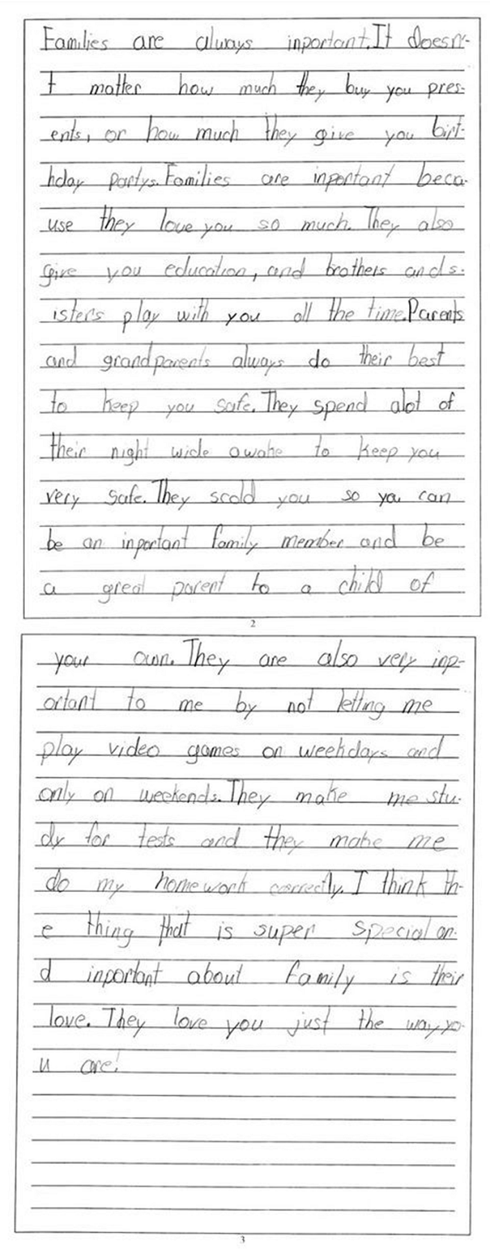 my year old brought home this essay she wrote for a test i have  my 8 year old brought home this essay she wrote for a test i have never felt so proud