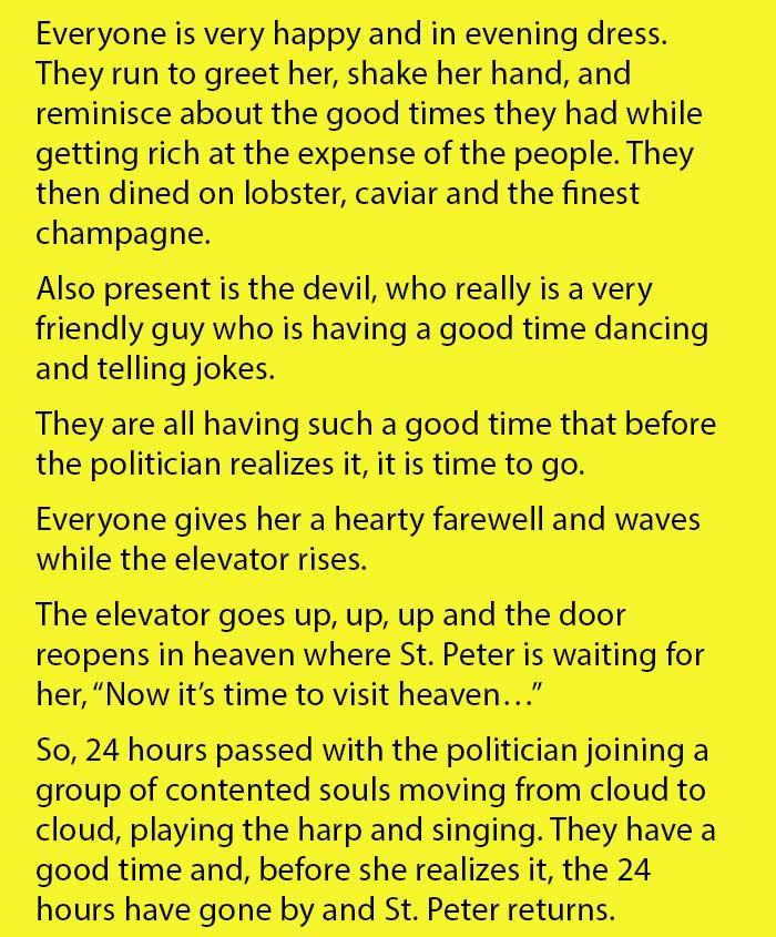 A Politician Passed Away And Visited The Afterlife, But Was ...