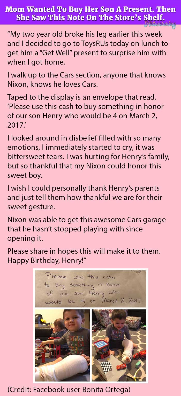 Mom Wanted To Buy Her Son A Present. Then She Saw This Note On The ...