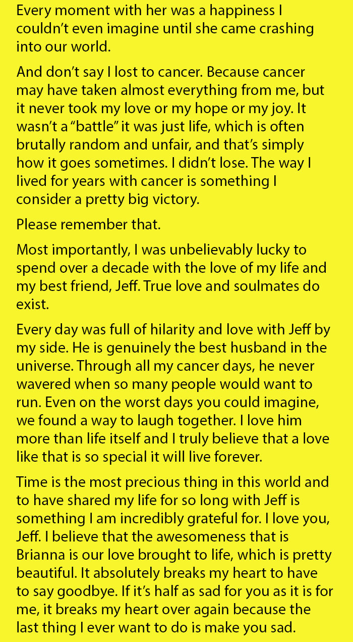 Husband Found This Letter After His Wife Died From Cancer